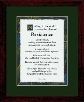 Persistence Quote Persistence By Calvin Coolidge 8x10