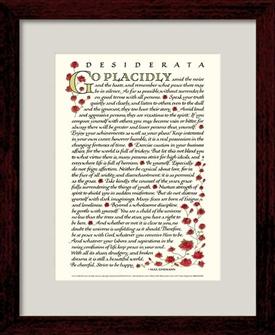 Desiderata Poem Max Ehrmann Desiderata 8x10 Framed