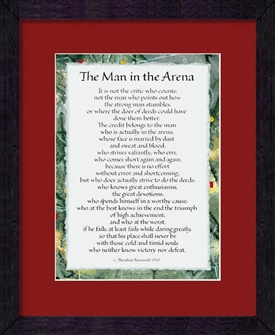 The man in the arena theodore roosevelt art print framed for Ink monkey press